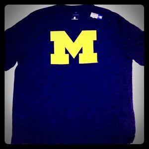 Michigan Wolverines Space Dye dry fit tee shirt ne